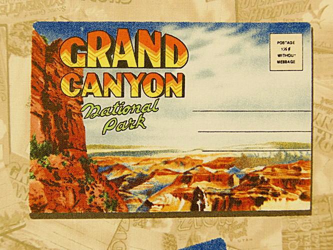 プリント生地 布 USAコットン NATIONAL PARKS ナショナルパークス 34096 国立公園ポストカード WINDHAM FABRICS ウィンダムファブリックス 商用利用可能