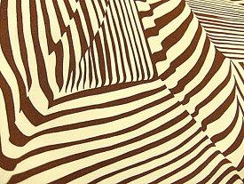 生地 布 輸入 USAコットン Dayo 8204A Coffee アレキサンダーヘンリー ファブリックス 動物柄 シマウマ ゼブラ柄 商用利用可能