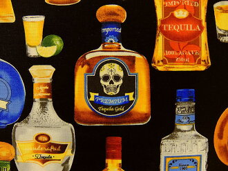 USA棉布布料布Cheers快活干杯! SRK15630-2黑色龙舌兰Robert Kaufman罗伯特袖口人员罗伯特考夫曼酒酒精商业用途可能的10P03Dec16