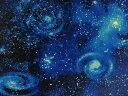 生地 布 USAコットン スターゲイザー SRK14607−11ロイヤル 宇宙柄 天文学者 ロバートカフマン ロバートカウフマン 商…