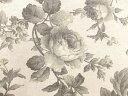 コットンリネン混生地 布 花柄プリント生地 オールドプレミアム KP9050−2Aグレー バラ 薔薇 ばら 商用利用可能