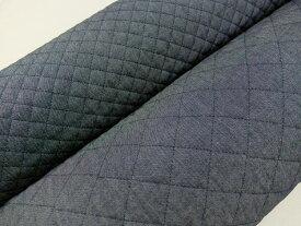デニム キルティング生地 布 無地 インディゴ染め 108cm巾 AQ10651 レッスンバッグ 体操着入れ シューズケース 商用利用可能