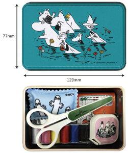 ムーミン ソーイングセット 缶入りSS−1802 メジャー・ニードルセット・ピンクッション・ミニはさみ・縫い糸セット 裁縫道具セット