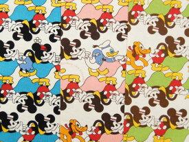 G7368-1 キャラクター生地 布 ディズニー 寺田順三 ミッキーマウス&ミニーマウス G7368−1 2019年 入園入学 商用利用不可