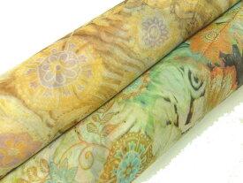 シルク揚柳プリント生地 布 ドイツ製 花柄32327 チュニック ブラウス マキシスカート 商用利用可能