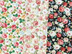 88-0788 小花柄 コットンスケア 生地 布 エレガントローズ 88−0788 Country Floral Collection 商用利用可能