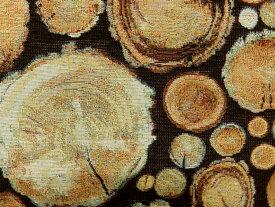 輸入 ゴブラン生地 布 丸太 木材 ログ 87417−01 B&Bファブリックス 商用利用可能