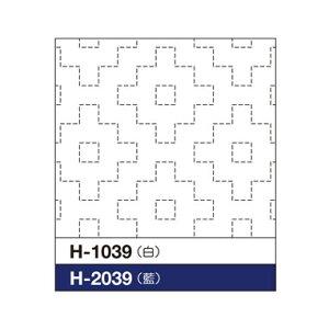 オリムパス刺し子 花ふきん布パック柿の花 H-1039 (白)