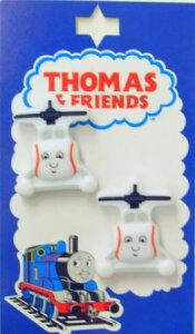 TM12 キャラクターボタンきかんしゃトーマス型抜き正面ボタン ハロルド TM12ネコポス発送可能