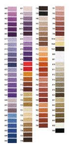 オリムパスししゅう糸 25番刺しゅう糸単色 紫・茶系色711〜786 刺繍糸 ししゅう糸