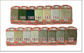訳あり カネボウの絹穴糸 20m巻き(#114〜#167)