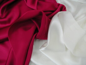 コーラル シルクサテン生地/布 無地 221-C6152 90cm巾 絹100% 商用利用可能