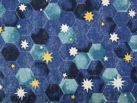 148-1815-O4 北欧調 シーチング生地 ニーナ タフティ 星柄 148−1815−O4ネイビー 商用利用可能