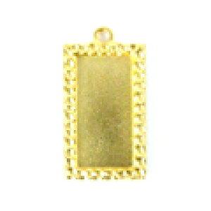 ミユキビーズアクセサリー貼り付け用ペンダントヘッドK4476/50 ゴールド