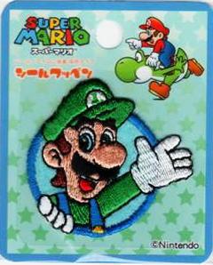 MRS008 キャラクターワッペン アップリケスーパーマリオ【ルイージ】刺しゅうミニワッペン☆MRS008