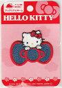 キャラクターワッペン アップリケ ハローキティ HELLO KITTY SJN550−SJN01