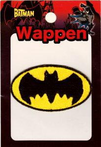 現品限り キャラクターワッペン アップリケ バットマン ロゴ WBBT33