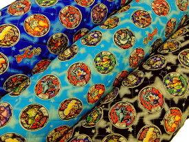キャラクター生地 布 2016年 入園入学 キルティング生地 布 妖怪ウォッチ GQ5126 バスターズメダル柄 Bメダル レッスンバッグ 体操着入れ 巾着袋に 商用利用不可
