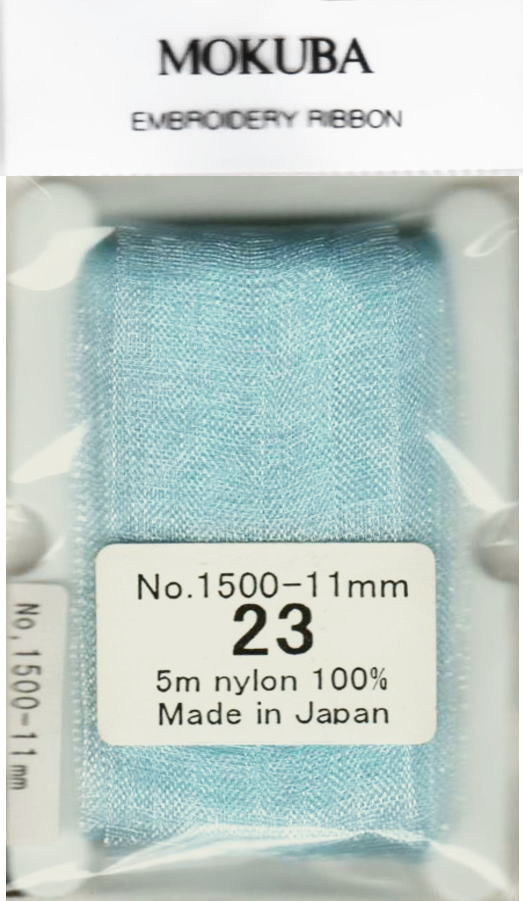 【エントリーでポイント10倍】※訳あり! 現品限りMOKUBA 木馬リボン刺しゅうリボン エンブロイダリーリボンNo1500 11mm