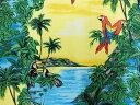 生地 布 USAコットン パロット & トゥーカン BBHC1061−41 ホフマンカリフォルニアファブリックス ハワイアン柄 オウムとオオハシ THE Hoffman California Fabr