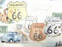 USAコットン 生地 布 Get Your Kicks (on Route 66) ルート66 8436A THE ALEXANDER HENRY FABRICS アレキサンダーヘンリー ファブリック
