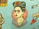 8307B 輸入 USAコットン 生地 布 Todo Para Ti あなたのためのすべて 8307Bターコイズ フリーダ メキシコ 女性 画家 THE ALEXANDER HENRY FABRICS
