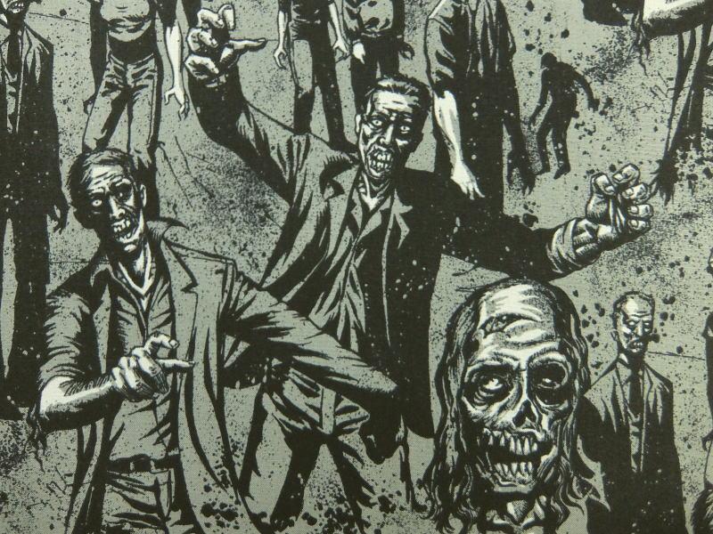 輸入 USAコットン 生地 布 ゾンビ! 7945BCharcoal Zombie! THE ALEXANDER HENRY FABRICS アレキサンダーヘンリー ファブリックス 商用利用可能