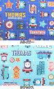 キャラクター生地 布 2017年 入園入学 きかんしゃトーマス G4502 トーマス ジェームス パーシー シーチング スモック レッスンバッグ 体操着入れ 巾...