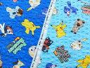 手作り浴衣・甚平・アロハシャツに最適!!2017年 キャラクターリップル生地 布 ポケットモンスターサン&ムーン G6037−1 商用利用不可