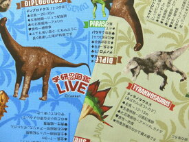 キャラクター生地 布 2020年 継続 入園入学 学研の図鑑LIVE 恐竜 A8500−1 商用利用不可