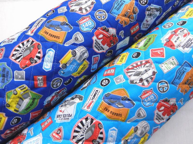 ママ割5倍 GQ6044-1 キャラクター キルティング生地 布 トミカ GQ6044−1 2018年 入園入学 レッスンバッグ 体操着入れ 巾着袋に 商用利用不可