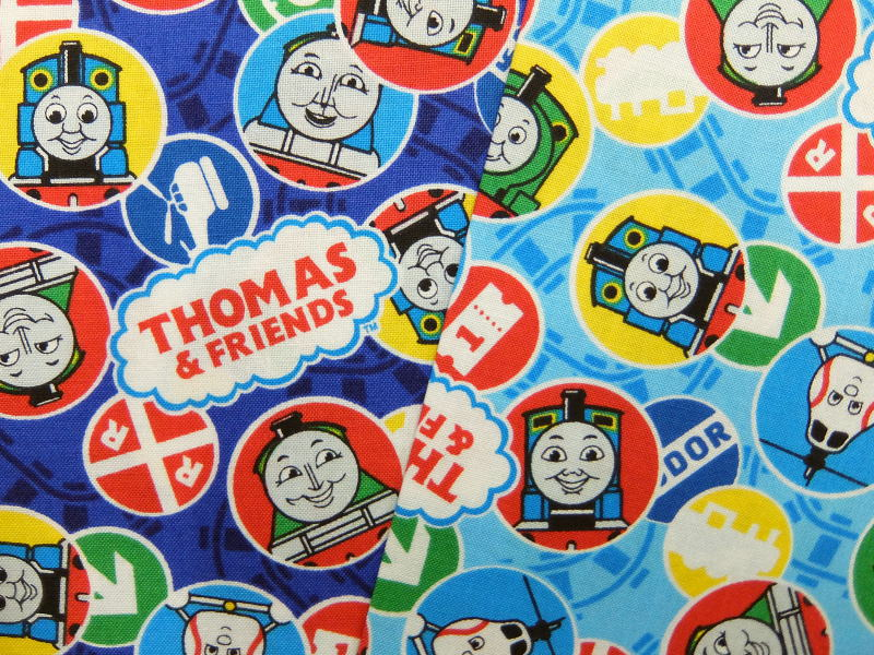 G4509-1 キャラクター生地 布 きかんしゃトーマス G4509−1 2018年 入園入学 シーチング トーマス ジェームス パーシー ゴードン ヘンリー エドワード ハロルド 商用利用不可