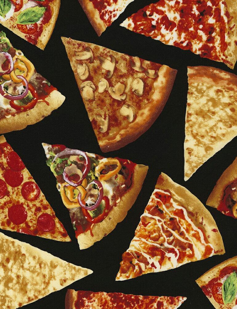 C5640 輸入 USAコットン 生地 布 タイムレストレジャーズ フーディー ピザ C5640 食べ物 ピッツァ 写真調プリント 商用利用可能
