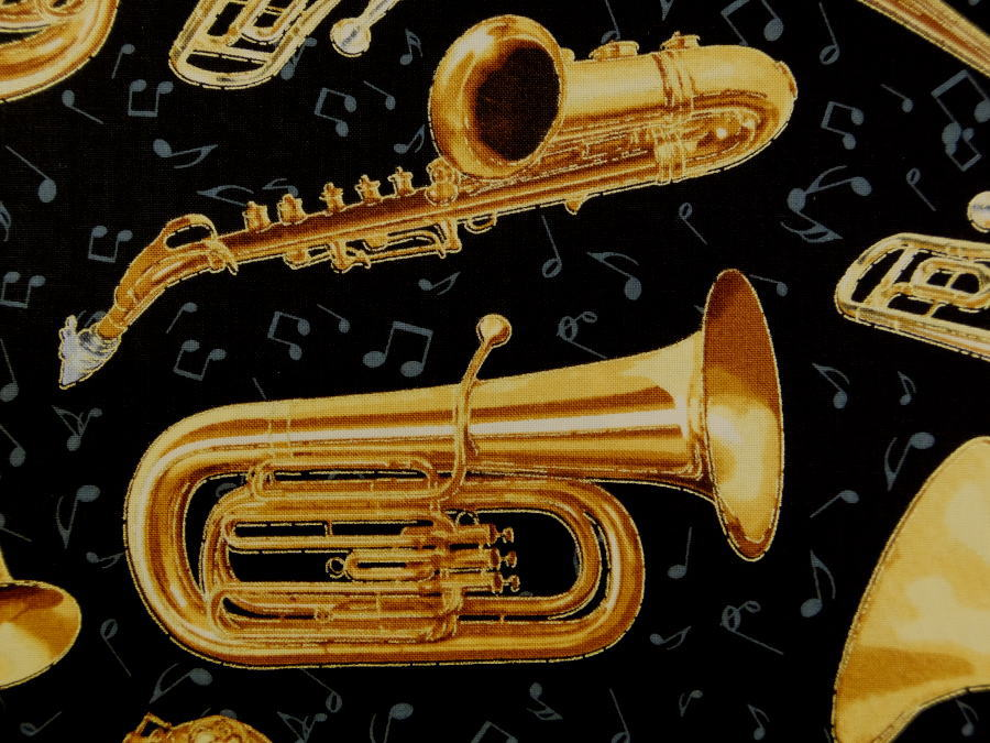 CM6126 輸入 USAコットン 生地 布 タイムレストレジャーズ ブラスインストゥルメンツ CM6126-Jet 金管楽器 ブラス インストゥルメントトランペット トロンボーン ホルン チューバ 商用利用可能