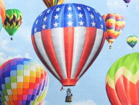 訳あり!生地 布 輸入 USAコットン ザローバイローエクスペリエンス 熱気球柄 RRP4343−16 ホフマンカリフォルニアファブリックス 商用利用可能