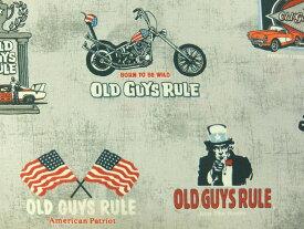 輸入 USAコットン 生地 布 Old Guys Rule® オールドガイルール AODD17518-184CHARCOAL 60's カリフォルニア ロバートカフマン