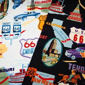 生地 布 輸入 USAコットン U.S. Route 66 ルート66 1585 アレキサンダーヘンリー ファブリックス商用利用可能
