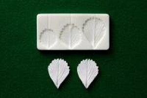 ミニ型抜き 粘土用型 イチゴ (小) 葉脈型抜2304
