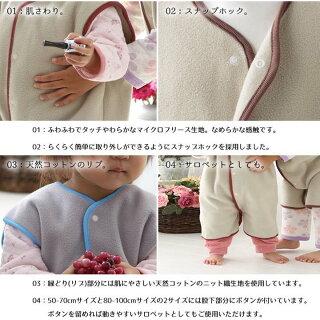 【着る毛布子供マイクロファイバーフリース節電対策寝具リルイベイビーマイクロフリースキッズスリーパー110-1