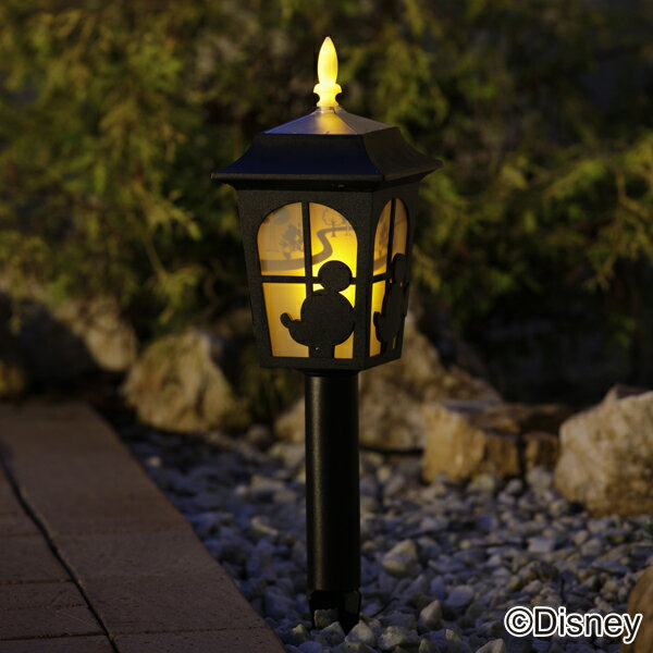ソーラーライト LED 送料無料 ディズニー シルエットストーリー ミッキー & ミニー TD-LR01 ガーデン キャラクター 防犯 防災 ガーデニング 庭 ライト 灯り 明り 照明 【D】【Disneyzone】