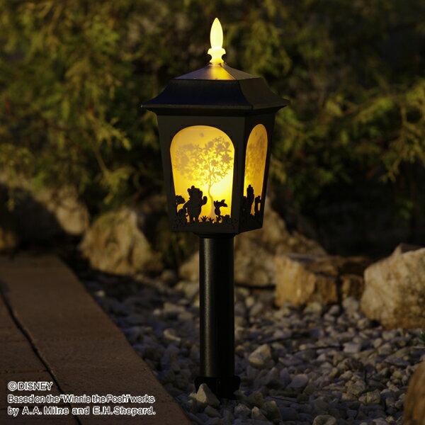 ソーラーライト LED 送料無料 ディズニー シルエットストーリー くまのプーさん TD-LR03 ガーデン キャラクター 防犯 防災 庭 ガーデニング ライト 灯り 照明 プーさん 【D】【Disneyzone】