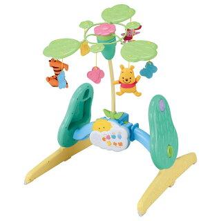 赤ちゃんベビーおもちゃオモチャ玩具音鳴る音楽知育くまのプーさんえらべる回転6WAYジムにへんしんメリータカラトミー