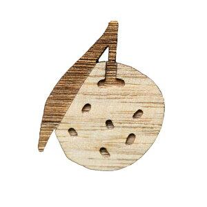 【木tch】クルミの木・ブローチ citron(柚子)