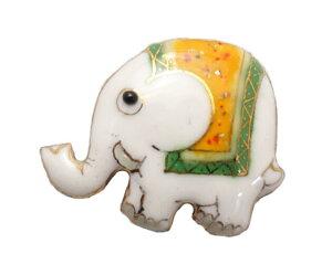 【UncleZ】 七宝焼き ピンブローチ 象