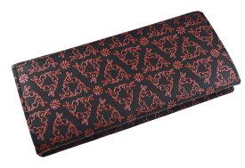【印傳屋上原勇七】長財布(札入れ)黒ピンク、紫白、赤白、黒赤の4配色