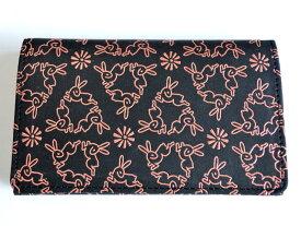 【印傳屋上原勇七】カードケース(名刺入れ)黒ピンク、紫白、赤白、黒赤の4配色