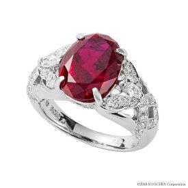 ルビー リング 指輪 プラチナ 35周年記念商品 7月誕生石 プレゼント クレサンベール 京セラ