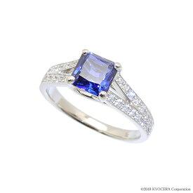 ブルーサファイア リング 指輪 プラチナ 9月誕生石 プレゼント クレサンベール 京セラ