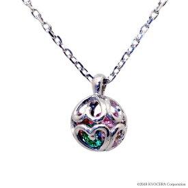 アミュレット ネックレス 7石の宝石が輝く幸せのネックレス 球体 シルバー プレゼント クレサンベール 京セラ