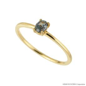 アレキサンドライト リング 指輪 K18イエローゴールド オーバル ストレート パレット 6月誕生石 プレゼント クレサンベール 京セラ